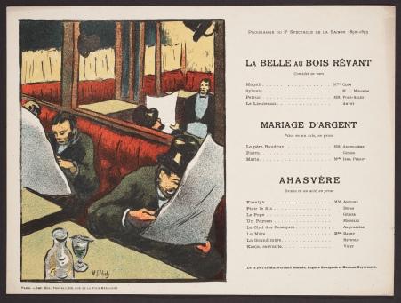 Programme du 8e spectacle de la saison 1892-1893 by Henri-Gabriel Ibels.