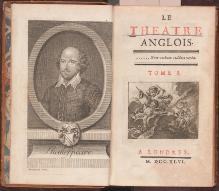 Le théâtre anglois, the frontispiece and title page.