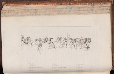 Histoire du Consulat et de l'Empire : faisant suite à l'Histoire de la Révolution française / par M.A. Thiers, facing page.