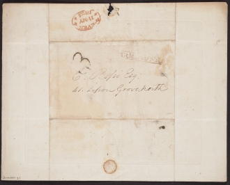[Request] 1825 May 11,Royal Academy [London, to] C. Rossi [London], the back.