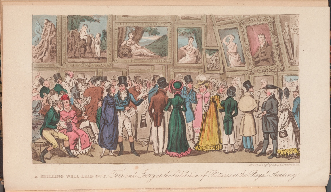 Life in London, or, The day and night scenes of Jerry Hawthorn, Esq. and Corinthian Tom, accompanied by Bob Logic, the Oxonian, in their rambles and sprees through the metropolis / by Pierce Egan, page opposite 340.