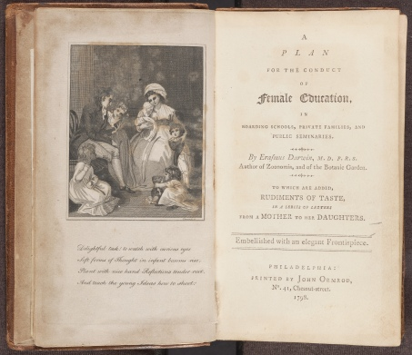 A Plan for the Conduct of Female Education, frontispiece and title page