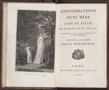 Conversations d'une mère avec sa fille, frontispiece and title page