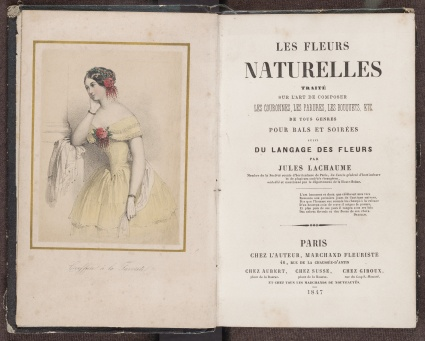 Les fleurs naturelles, the frontispiece and title page