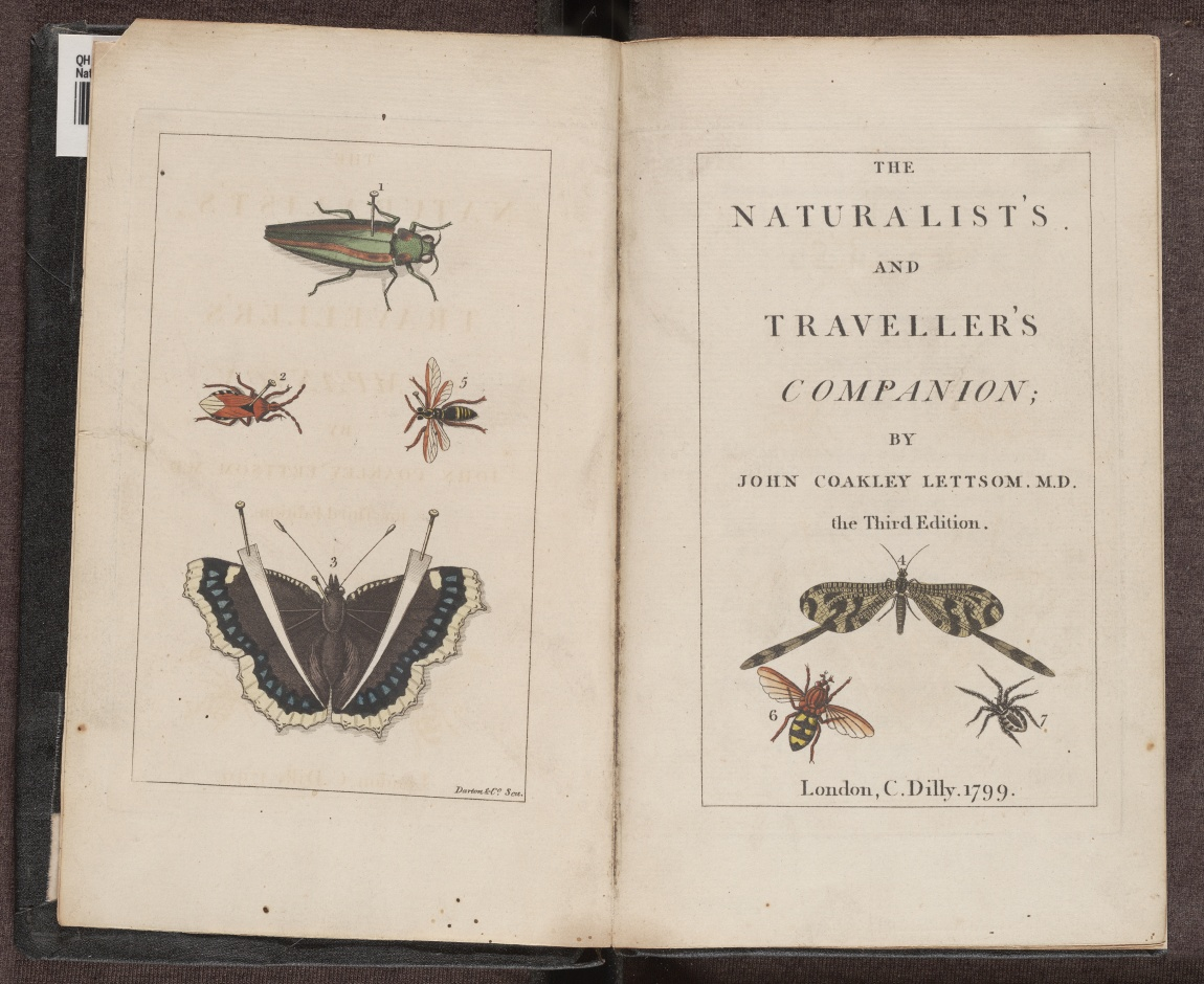 The Naturalist's and Traveller's Companion, hand-coloured engraved frontispiece and title page