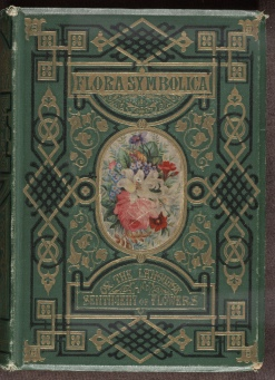 Flora Symbolica, decorated green cloth cover