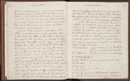 Manuscript pages from an account of an expedition by Sir Joseph Banks