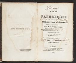 Cours de pathologie, title page