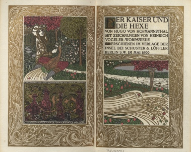 Der Kaiser und die Hexe, title within decorative border and engraved frontispiece