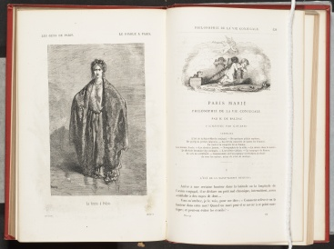 Le diable à Paris, page 129 and engraving on opposite page