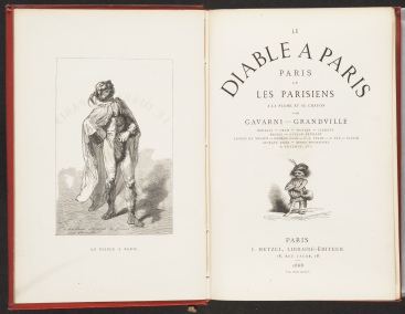 Le diable à Paris, title page and frontispiece