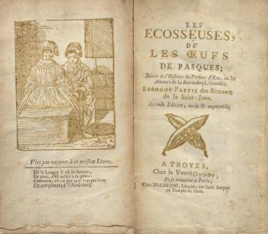 Les Ecosseuses, title page and frontispiece