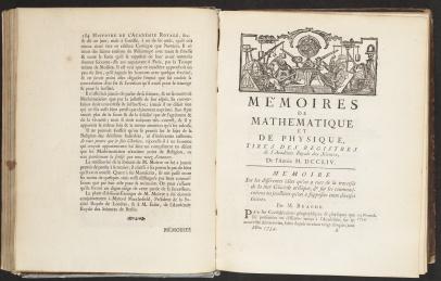 Histoire de l'Académie royale des sciences, page 184 and engraving: «Stalactites»