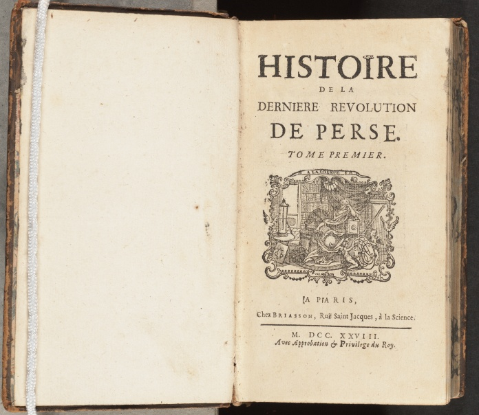 Histoire de la dernière révolution de Perse, title page