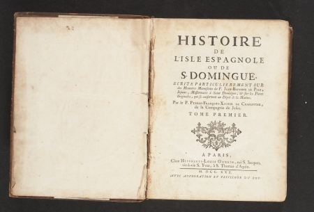 Histoire de l'isle espagnole ou de S. Domingue, title page