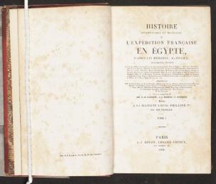 Histoire scientifique et militaire, title page