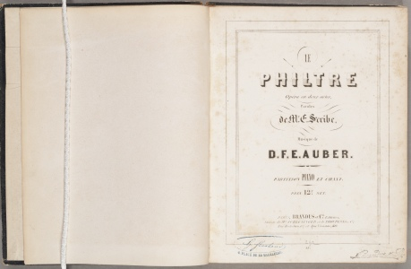Le Philtre, title page