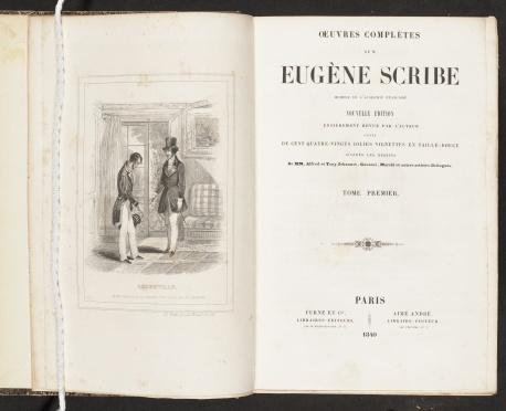 Oeuvres complètes de M. Eugène Scribe, vol. 1, title page