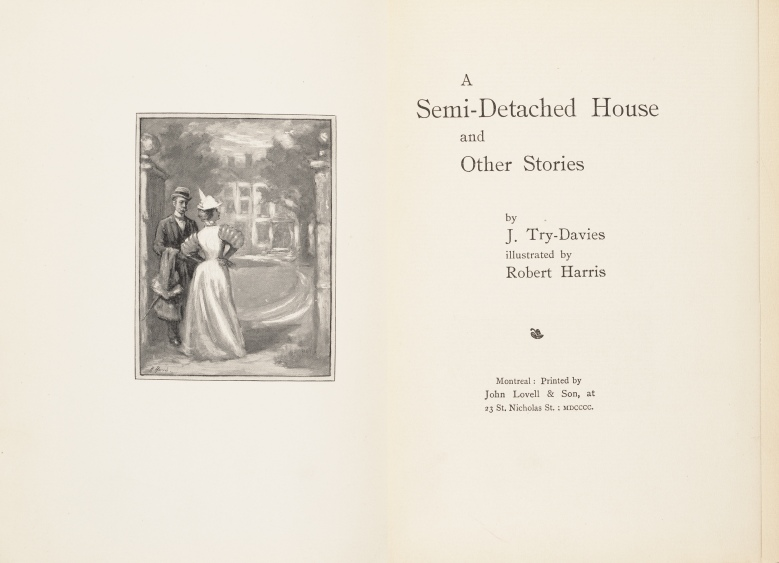 A semi-detached house, title page and frontispiece illustration by Robert Harris