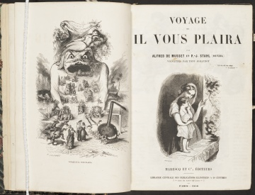 Voyage où il vous plaira, title page and frontispiece