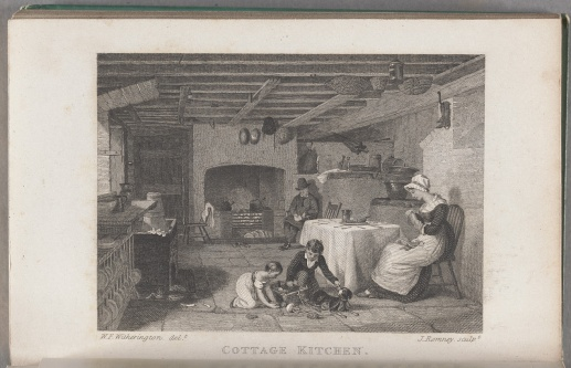 Witherington, W. F. (artist), and Romney, J (engraver), Cottage Kitchen, Forget Me Not for 1829, p. 329