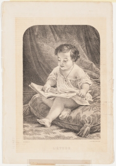 L'Étude, after Dominique Holfeld, and engraved by Vincent Brooks, c. 1870.