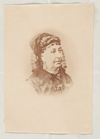 Photograph of George Sand, 1804-1876.