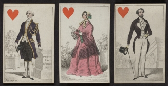Jack, Queen and King of hearts, 1848.