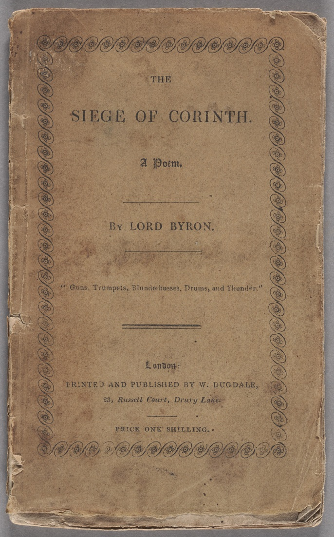 Byron, George Gordon Byron, Baron, The Siege of Corinth, Cover