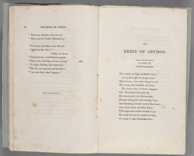 Lord Byron, The Bride of Abydos.