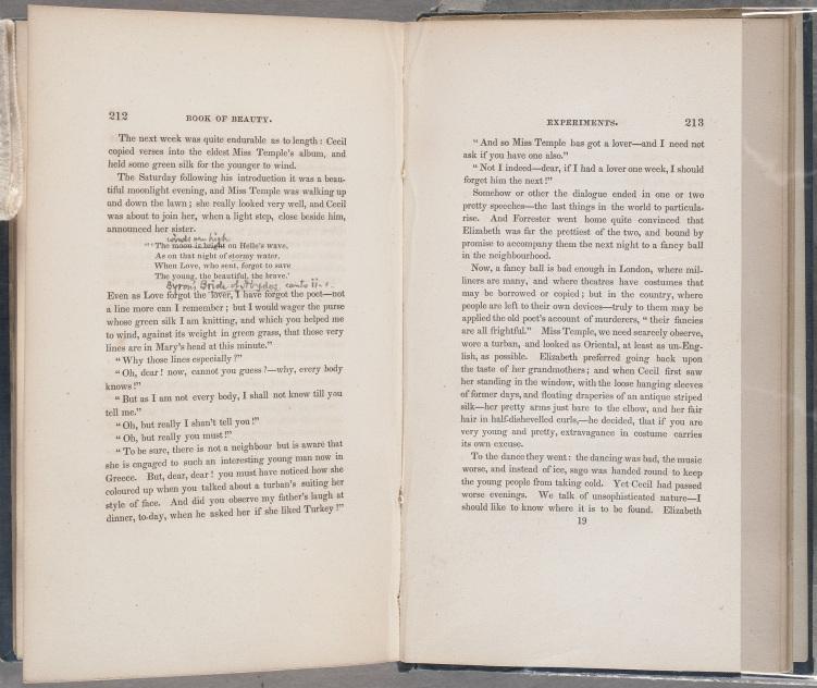 Book of Beauty Marginalia