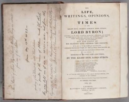 Byron Script Fac Simile