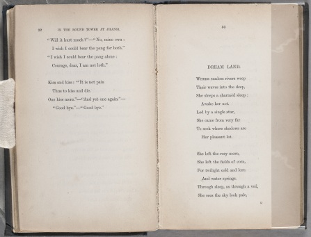 """Christina Rossetti, """"Dream Land,"""" Goblin Market and Other Poems, 33."""